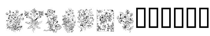 KR Floral Color Me Font UPPERCASE