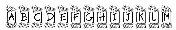 KR Flower Frame Font UPPERCASE