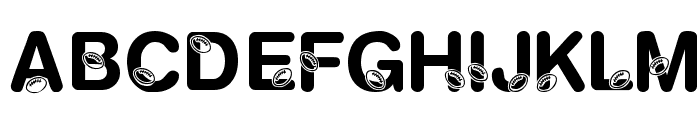 KR Football Fun Font LOWERCASE