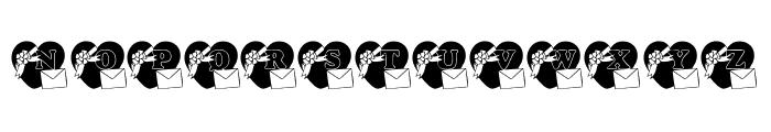 KR For You Font UPPERCASE