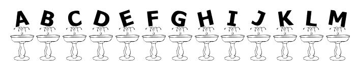 KR Fountain Font UPPERCASE