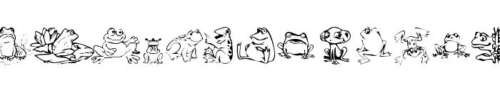 KR Frogs for Jennifer Font UPPERCASE