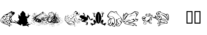 KR Frogs for Jennifer Font LOWERCASE