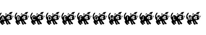 KR Halloween Kitten Font UPPERCASE