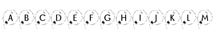 KR Happy New Year 2002 Font LOWERCASE