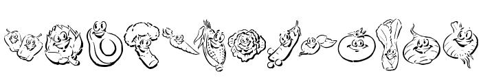 KR Happy Veggies! Font UPPERCASE