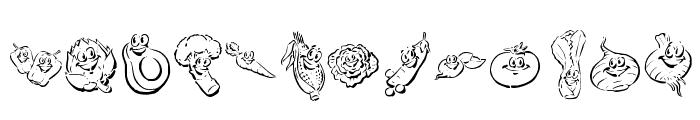 KR Happy Veggies! Font LOWERCASE