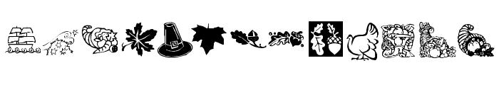 KR Harvest Dings Font UPPERCASE