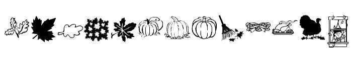 KR Harvest Dings Font LOWERCASE
