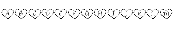 KR Heart of Flowers Font LOWERCASE