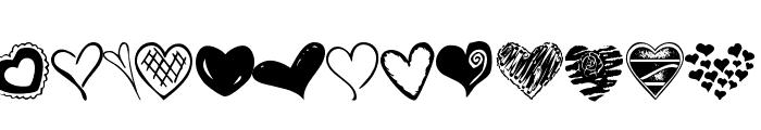 KR Heartalicious Font UPPERCASE