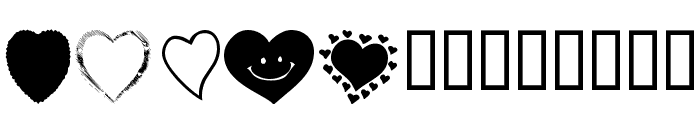 KR Heartalicious Font LOWERCASE