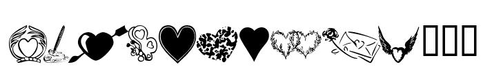 KR Heartily Font UPPERCASE