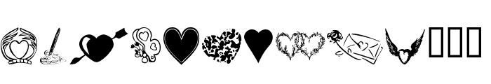 KR Heartily Font LOWERCASE