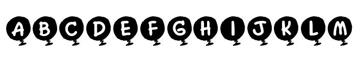 KR Helium Font UPPERCASE