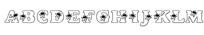 KR Hip Star Font UPPERCASE