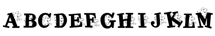 KR Jigsaw Joey Font LOWERCASE