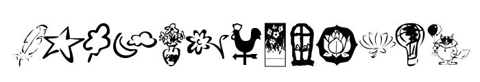 KR Katlings Four Font UPPERCASE