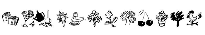 KR Katlings Three Font LOWERCASE