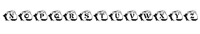 KR Kat's Caulron Font UPPERCASE