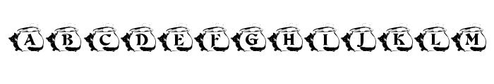 KR Kat's Caulron Font LOWERCASE