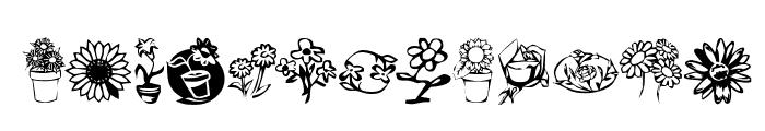 KR Kat's Flowers 3 Font UPPERCASE