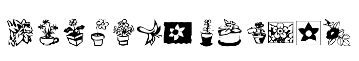 KR Kat's Flowers 3 Font LOWERCASE