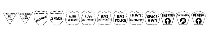 KR Kinda Spacey Font UPPERCASE