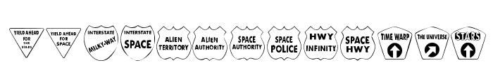 KR Kinda Spacey Font LOWERCASE