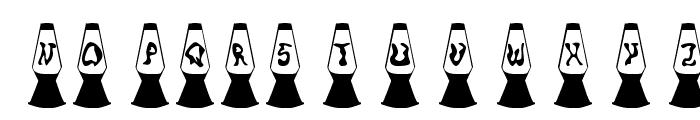 KR Lava Lamp Font UPPERCASE