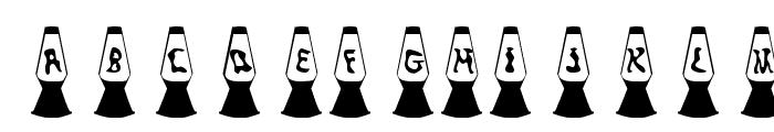 KR Lava Lamp Font LOWERCASE