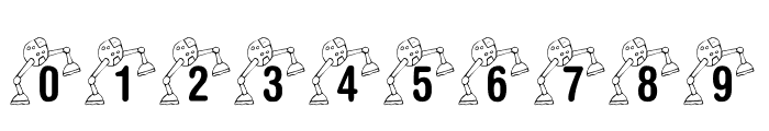 KR Lil' Mike's Robot Font OTHER CHARS