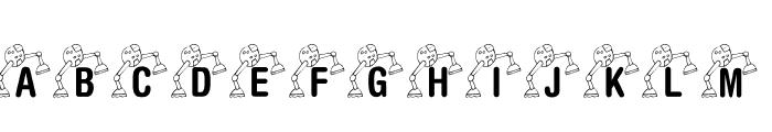 KR Lil' Mike's Robot Font UPPERCASE