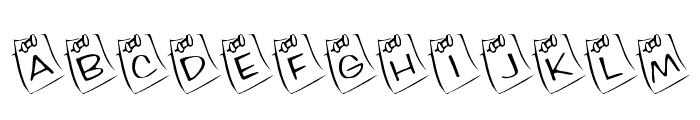KR Lil Note Font UPPERCASE