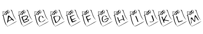 KR Lil Note Font LOWERCASE