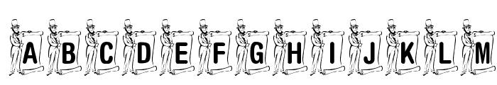 KR Lincoln Font UPPERCASE