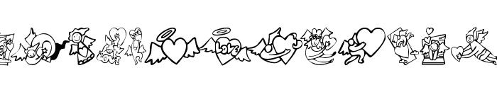 KR Love Angels Font UPPERCASE