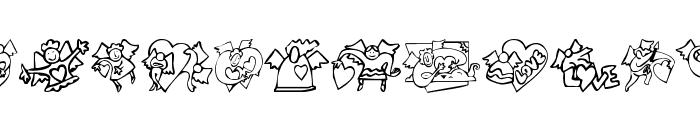 KR Love Angels Font LOWERCASE