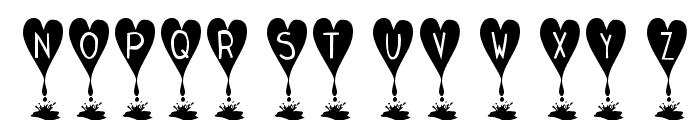 KR Love Lies Bleeding Font UPPERCASE