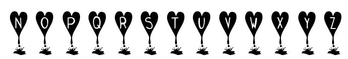 KR Love Lies Bleeding Font LOWERCASE