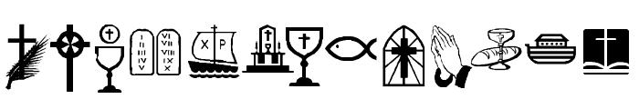 KR Lynda's Christian Dings Font UPPERCASE