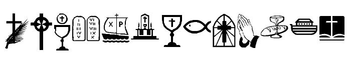 KR Lynda's Christian Dings Font LOWERCASE