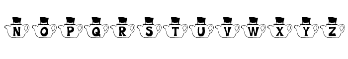 KR Mad Tea Party Font UPPERCASE