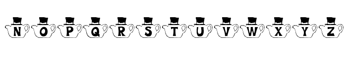 KR Mad Tea Party Font LOWERCASE