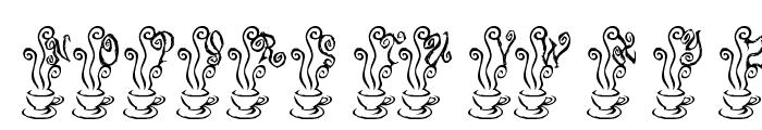 KR Magic Tea Font UPPERCASE