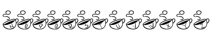 KR Morning Must! Font UPPERCASE