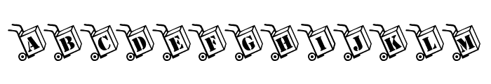 KR Moving Day Font UPPERCASE