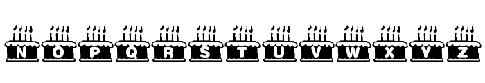 KR Nght's Birthday Font LOWERCASE