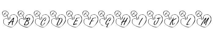 KR Online Love Font UPPERCASE