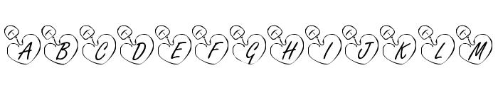 KR Online Love Font LOWERCASE